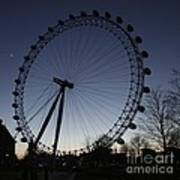 London Eye And New Moon Poster