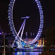 London Eye By Night Poster
