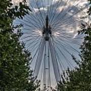 London Eye Vertical Panorama Poster