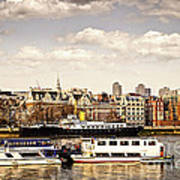 London From Thames River Poster