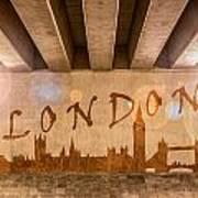 London Graffiti Skyline Poster
