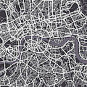 London Map Art Poster