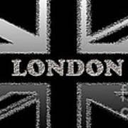 London Modern Union Jack Flag Poster