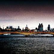 London Over The Waterloo Bridge Poster
