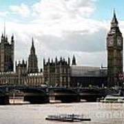 London Parliament Building Poster