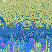 London Skyline Abstract 8 Poster