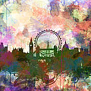 London Skyline Watercolor Poster