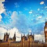 London Uk Big Ben The Palace Of Westminster Poster