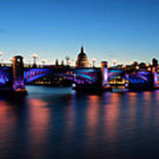 London's Southwark Bridge Poster