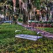 Lone Bench Poster