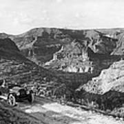 Lone Car In Fish Creek Canyon Poster