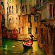 Lone Gondolier Poster