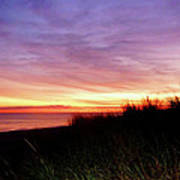 Lonely Beach At Sunrise Norfolk Va Poster