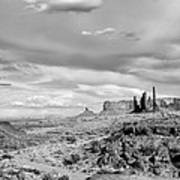 Lonely Cloud And Totem Pole - Monument Valley Tribal Park Arizona Poster