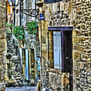 Lonely Lane In Sarlat France Poster