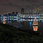 Long Beach Lights Poster