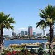 Long Beach Skyline Poster