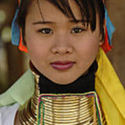Long Necked Woman Of Thailand Poster