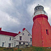 Long Point Lighthouse In Twillingate-nl Poster