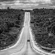 Long Road Ahead  8923bw  Poster
