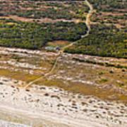 Long Road To The Coast Near Jekyll Island Poster
