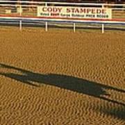 Long Shadow At Sunset Poster