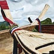 Long Tail Boats Of Krabi Poster