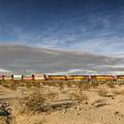 Long Train Near Barstow Poster