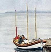 Longboat Poster by Sandy Linden