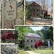 Longfellow's Grist Mill Poster by Patricia Urato