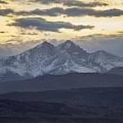 Longs Peak 3 Poster by Aaron Spong