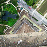 Looking Down From The Eiffel Tower Poster