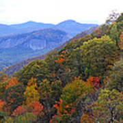 Looking Glass Rock And Fall Colors Poster