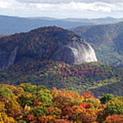 Looking Glass Rock And Fall Folage Poster