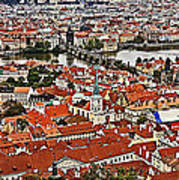 Looking Over Prague Poster