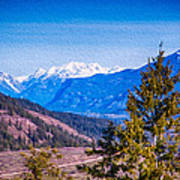 Looking To Mazama From Sun Mountain Poster