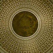 Looking Up Capitol Dome Poster