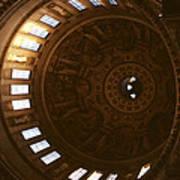 Looking Up London Saint Paul's Poster