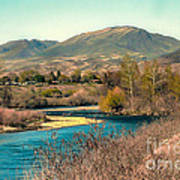 Looking Up The Payette River Poster