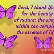 Lord I Thank You for the Beauty of Nature Poster