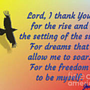 Lord I Thank You for the Freedom Poster
