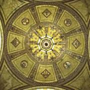 Los Angeles City Hall Rotunda Ceiling Poster