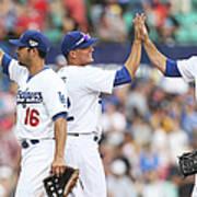Los Angeles Dodgers V Arizona Poster