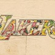 Los Angeles Lakers Logo Art Poster