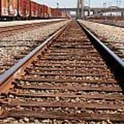 Los Angeles Railroad Tracks Poster