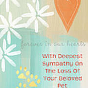 Loss Of Beloved Pet Card Poster