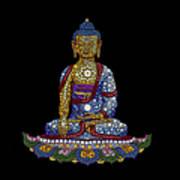 Lotus Buddha Poster by Tim Gainey