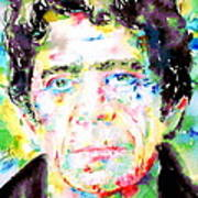 Lou Reed Watercolor Portrait.1 Poster