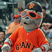 Lou Seal San Francisco Giants Mascot Poster