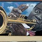 Louie Armstrong Mural In Eureka Poster